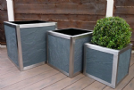 Stainless Steel Frame Cube Planters